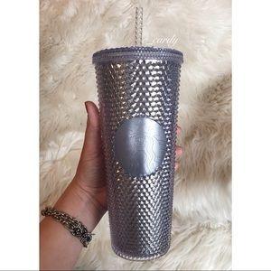 NEW Starbucks Silver Studded Tumbler